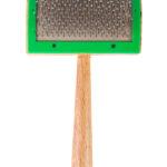 Slicker brush.
